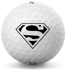 3 Dozen (Superman S LOGO) Titleist Velocity Mint Perfect Condition Golf Balls