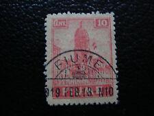 FIUME italia francobollo yvert e tellier n° 35 obliterati A16 stamp L'Italia ha