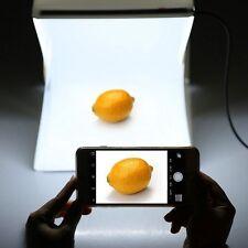 """Portable Light Room Photo Studio 9"""" Photography Backdrop Mini Cube Box Tent Ki"""