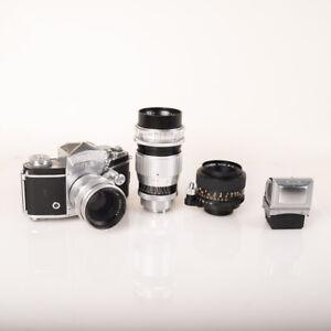 EXAKTA VAREX IIa with 3 lenses, 2 viewfinder, cases