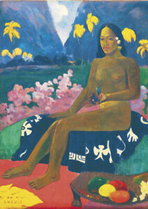Gauguin - The Seed of the Areoi - Large A2 size 42x59.4cm Canvas Print Unframed