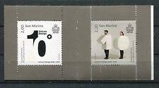 San Marino 2015 Modern Design Art Booklet of 2 Stamps UNIRSM Design Interactive