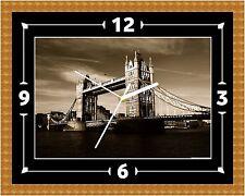 Reloj De Pared London Bridge Thames Presente Navidad Cumpleaños (personalizable)