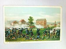 Vintage Postcard Battle of Lexington Military Engagement of American Revolution
