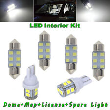 8x White Led For Car Map Dome License Plate Light Bulbs Interior Led Package Kit (Fits: Dodge Stealth)
