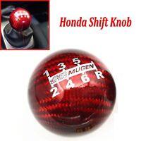 Red Mugen 6 Speed Gear Shift Knob For Honda EK9 EP3 FN2 DC2 DC5 S2000 FD2 FA5