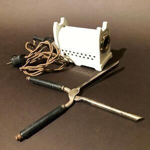 1920 AEG ANTIQUE HAIR CURLERS ELECTRIC HEATER HAIR DRESSER TOOL WORKING GERMANY