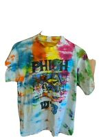 Phish Very Rare Vintage Tie Dye Israel Mr. T's Hebrew Graphic T-Shirt Size L