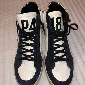 P448 S20 Skate-M Mens Sneaker 45 Italy white/blue