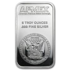 5 oz Silver Bar - APMEX - SKU #40249