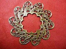 6pc antique bronze metal filigree nickle free center piece/wraps-2888A