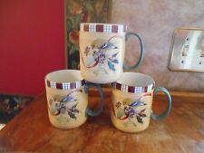 SET 3 LENOX WINTER GREETINGS EVERYDAY GOLDFINCH COFFEE CHOCOLATE MUGS CUPS