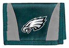 NEW Philadelphia Eagles Football League Licensed Nylon Tri-Fold Chamber Wallet