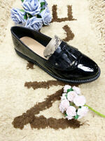 NEW WOMENS LADIES FLAT TASSEL LOAFERS SMART CASUAL SCHOOL OFFICE WORK SHOES SIZE