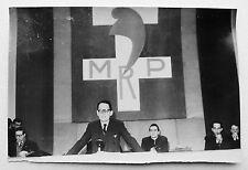PHOTO PRESSE CONGRES MRP 1945 MAURICE SCHUMANN PHOTO KEYSTONE N115