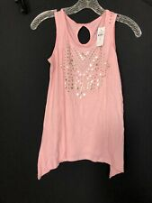 Justice Active Beaded New $23 Sleeveless Stretch Tank Top Girls Size 12 Year Top