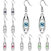 Fashion Womens Crystal Rhinestone Silver Plated Ear Stud Earrings Jewellery Hot