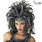 New Ladies Evil Sorceress Vampire Witch Zombie Elvira Halloween Fancy Dress Wig