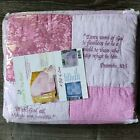 Comfort In The Word  BABY QUILT 9 Embroidered Scriptures 100% Cotton