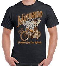 Unifarbene Herren-T-Shirts mit Cafe Racer in Größe XL