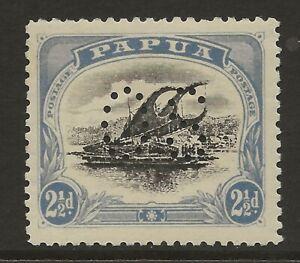 PAPUA  SG 017  1908/10 WATERMARK SIDEWAYS PERF II   2 1/2d OFFICIAL   MINT