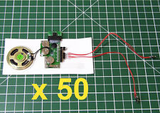 50pcs - DIY KIT 200sec for GREETING CARD + 2 BUTTON MP3 device voice music sound