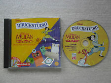 CD-ROM WINDOWS 95-DISNEYS MULAN-DRUCKSTUDIO-BENUTZERHANDBUCH-DACHE-INTERACTIVE-/