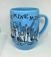 MINE MINE Disney Parks Pixar Finding Nemo Seagulls 3D Blue Ceramic Coffee Mug