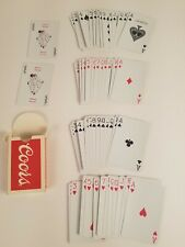 Coors Playing Cards -1979- Vintage- 2 Jokers-52 regular cards Us Playing Card Co