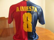 # 8 A Iniesta F.C.B.Soccer Football Adult  Large Barcelona