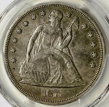 PCGS XF45 1871 SEATED LIBERTY DOLLAR