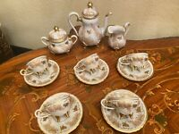 Vintage 5 cups 5 Saucers German Weimar Josefine Full Mocca Coffee Set
