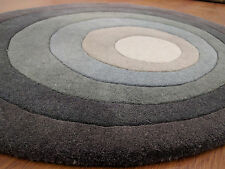 Indian Thick Soft Hand Tufted Round Modern Designer Bespoke Wool Carpet Area Rug