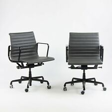2017 Eames Herman Miller Low Aluminum Group Management Desk Chair Black/Gray 10x