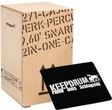 Schlagwerk CP 404 Natur 2inOne Snare Cajon Large + keepdrum  Sitzpad CP-01