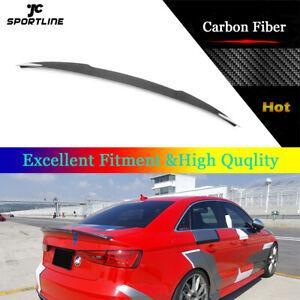 Rear Trunk Boot Spoiler Wing Fit for Audi A3 S3 RS3 Sedan 14-19 Carbon Fiber