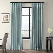 "Exclusive Fabrics & Furnishing Faux Silk Rod Pocket Single Curtain Panel 50""w"