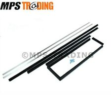 LAND ROVER DEFENDER 110 130 SECOND ROW DOOR WINDOW CHANNEL SET 4MM GLASS