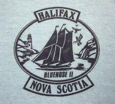 BLUENOSE II lrg V-neck tee Halifax schooner T shirt 1970s yacht Nova Scotia boat