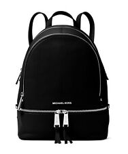 Michael Kors Backpack Bag Rhea Zip Md Backpack Leather Black New 30S5SEZB1L