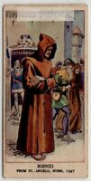 Rienzi Escapes From St. Angelo Rome Italy 1347 c80 Y/O Trade Ad Card