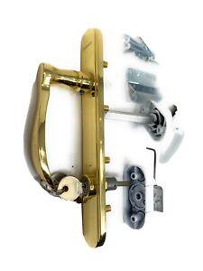 Anderson 36863 Locking Storm & Screen Door Handle Hardware Set - Brass & White