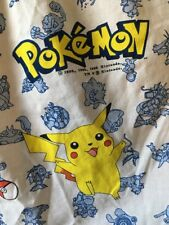 """Pokémon Nintendo Vintage 1998 Fitted Bed Twin Sheet 76"""" X 39"""""""