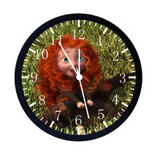 Disney Merida Black Frame Wall Clock Nice For Decor or Gifts E40