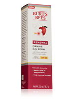 Burt's Bees Renewal Firming Day Lotion, SPF 30, 2.0 oz each, New In Box!