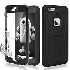 iPhone 7 Plus/7/6S/6 Case, HEAVY DUTY TOUGH ARMOR Cover[Built-in Stand + Screen]
