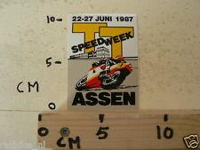 STICKER,DECAL DUTCH TT ASSEN 1987 LUCKY STRIKE SPEEDWEEK 1987 ASSEN