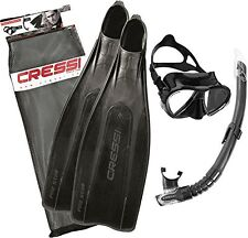 Cressi Pro Star Bag Snorkelling Set - Black, Size 43/Size 44