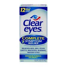 Clear Eyes Complete 7-Symptom Relief Eye Drops 0.5 Fl. Oz
