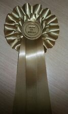 Best of breed rosette in gold 3 tails 2 tier large rosette dog show open event